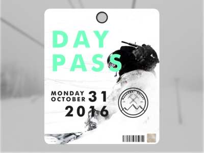 Nashoba Valley - Lift Ticket sketch illustrator branding ski lift pass ticket logo winter nashoba snowboard ski