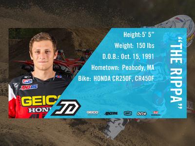 Info Card - Jimmy Decotis logo 58 jimmy decotis sx supercross mx motocross download handout card