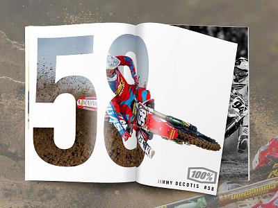 Jimmy Decotis - Magazine Ad 58 goggles jimmy decotis sx supercross mx motocross advertisement print magazine