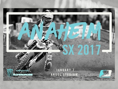 Supercross Event Poster - Anaheim 1 poster ama california anaheim monster energy fox racing braaap ken roczen mx motocross sx supercross