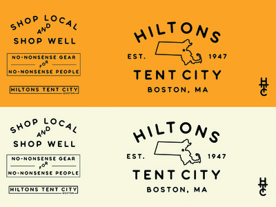 Hiltons Tent City - Logotype v2 identity branding massachusetts sign signage tent boston bouquet typeface topography logo logotype