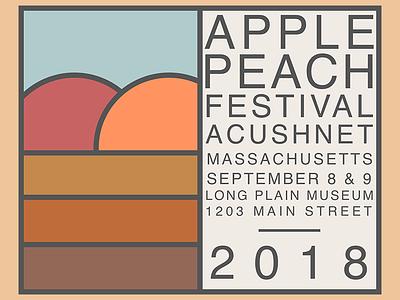 Apple Peach Festival 2018 fall applepeachfestival festival peach apple massachusetts acushnet illustration sketch