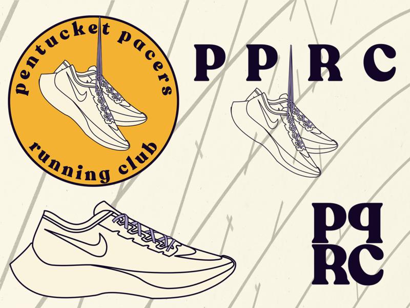 Pentucket Pacers Running Club branding icon vector illustrator track sketch pentucket pacers pentucket nike running running club nike logotype logo