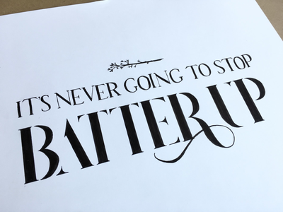 Batter Up music typography handlettering