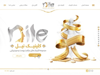 Home page design for nile clinic