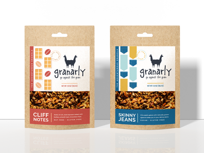 Granola Packaging icons chocolate oats redesign rebrand mockup branding design collection design food granola illustration packaging branding