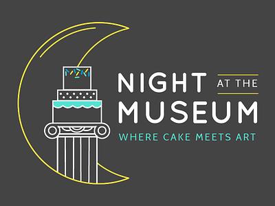 Night at the Museum Cake Show Logo concept night moon museum logo cake