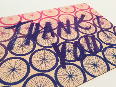 Risograph Thank You Card ms150 brush gradient cycling bicycle card risograph thank you