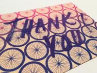 Risograph Thank You Card
