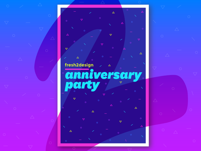 So Fresh fjord austin confetti party anniversary poster type typography