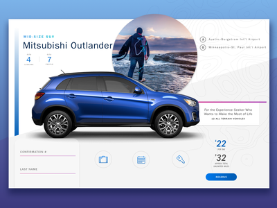 Exploratory Style Tile travel fjord gradient explore branding moodboard ui typography car vehicle style tile