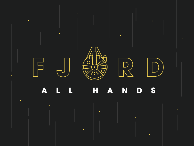 Fjord All Hands millennium falcon star wars space line minimal movie fjord