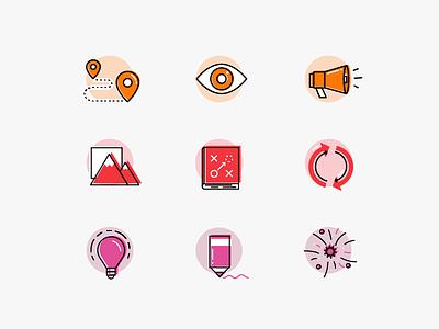 Offset Icon Illustrations offset icon set icon vector illustration fjord