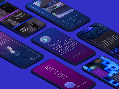 Conference Concept Screens design fjord typography gradients tech mobile app ui