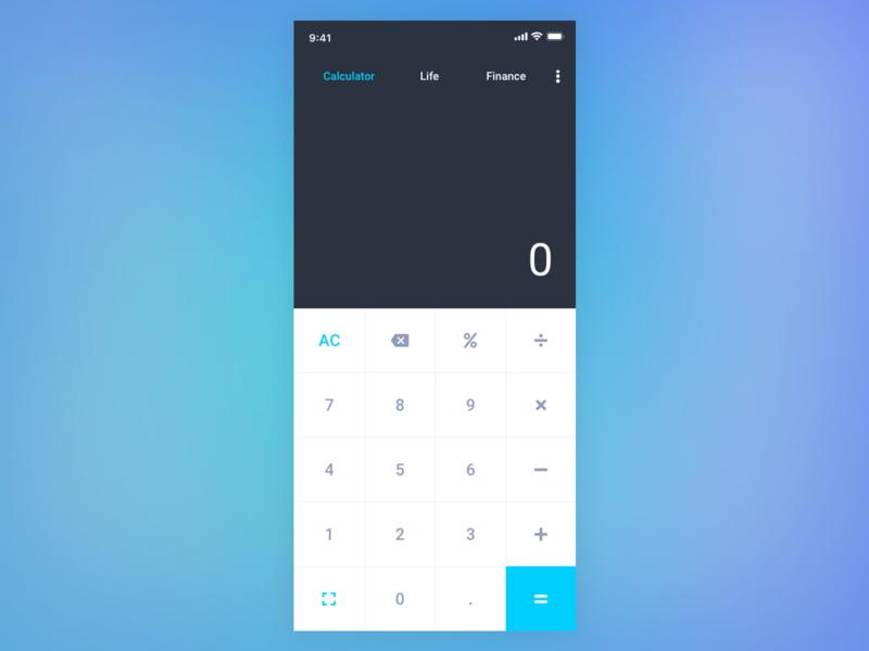 Daily UI #004 - Calculator dailyui004 calculator ui calculator design ui dailyui daily 100 challenge
