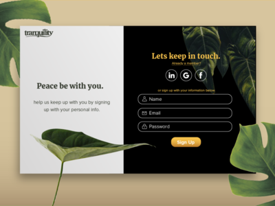 Daily UX Challange: Sign Up