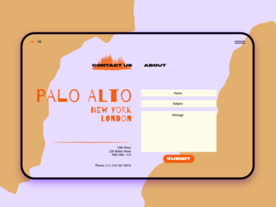 Daily UX Challange: Contact Page