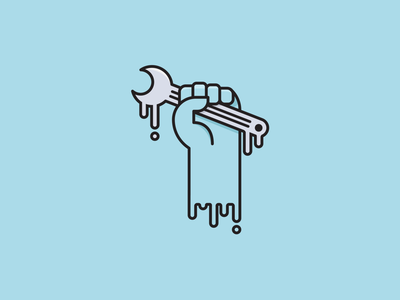 Drip Drip melt graphic minimal vector fist tool drip paint