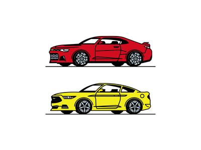 Camaro + Mustang