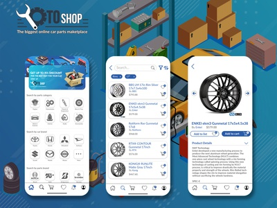OtoShop - A Car Parts Marketplace App