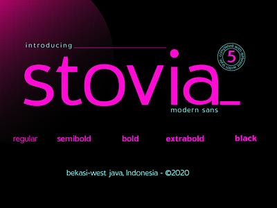 Stovia Modern Sans logotype typeface design font sans font design display font geometric modern sans fontfamily typefacedesign typeface sans serif font sanserif sans serif