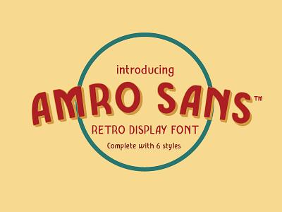 Amro Sans Typeface fonts typeface design display font sans serif