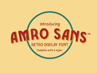 Amro Sans Typeface