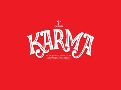 Karma; Logotype display font lettering daily logo design logotype lettering art lettering