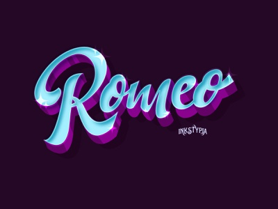 Romeo Lettering custom lettering digital lettering lettering art lettering