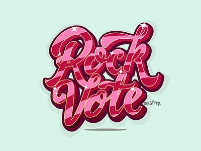 Rock Vote sticker logo typeart type welovetype display font digital lettering lettering daily lettering art custom lettering lettering