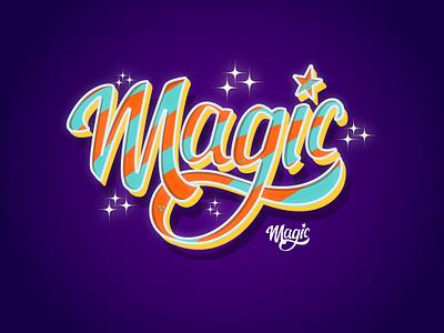 Magic magic custom type lettering art custom lettering logotype digital lettering lettering lettering daily display font