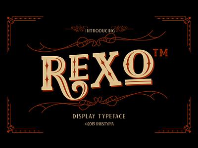 REXO - Typeface logotype typeface design decorative font display display type slabserif