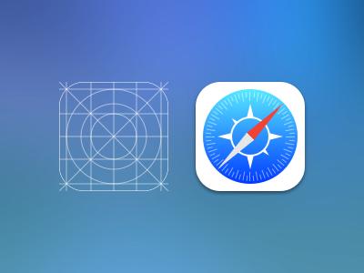 safari icon safari icon ios 7 ios7 apple sketch grid ios iphone browser