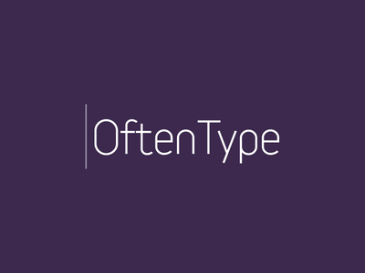 QftenType Logo logo app iphone