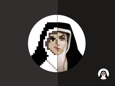 Pixel Mother Teresa pixel mother icon no gradient