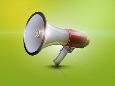 Megaphone icon illustration graphic