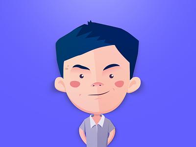 Boy personage illustraton