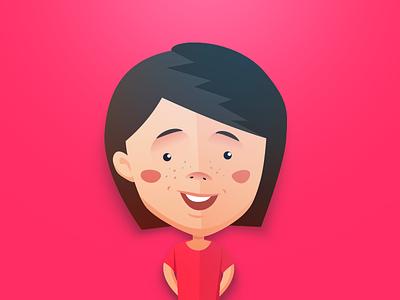 Girl personage illustraton