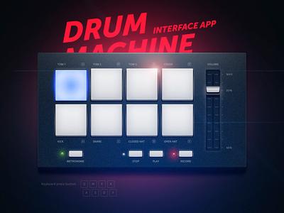 Drum Machine drummachine illustration application