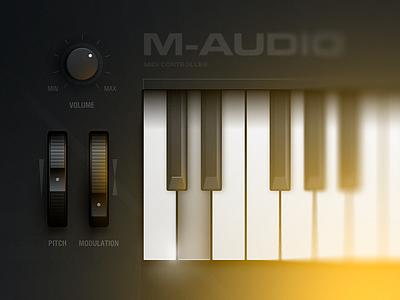 MIDI Controller sound midi controller illustration