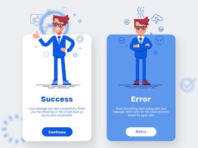 Daily UI - Flash messages #dailyui error success dailyui flash messages message ui