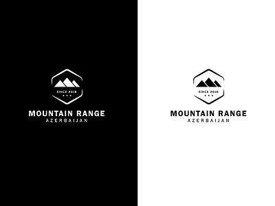 Mountain Range Azerbaijan logo design minimalist logo mountain logo minimalist camping hiking nature icon mountain range azerbaijan logo mountain
