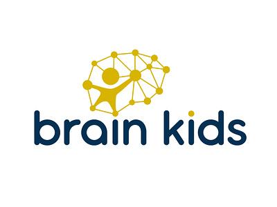 brain kids logo logo inspiration logo idea child kids kid logo design logotype logo brainchild brain logo brain