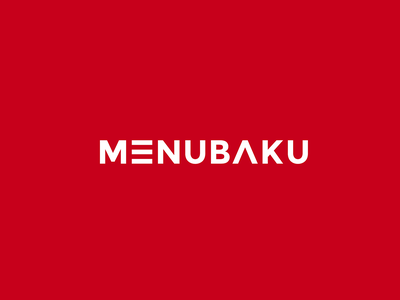Lettermark Logo for MenuBaku Website menu logo menu lettermark icon design azerbaijan logo