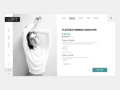 Loft Product Page UI site design site website ux design uidesign uiux page design page web ui ux design product page product