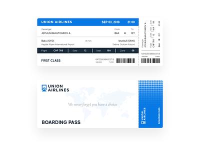 Boarding Pass Design board union airlines airline ticket design ticket boarding pass boardingpass boarding passenger design ui travel
