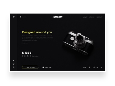 Product Page UI product design black  white black dark ui dark www photograph photograhy photo product page web ux typography ui