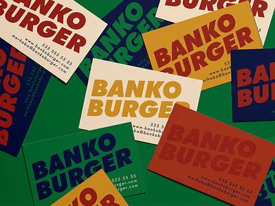 Banko Burger Branding menu food burger logo idenity branding
