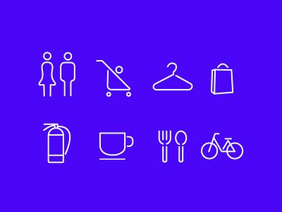Shopping Center Icon vector icon illustration design