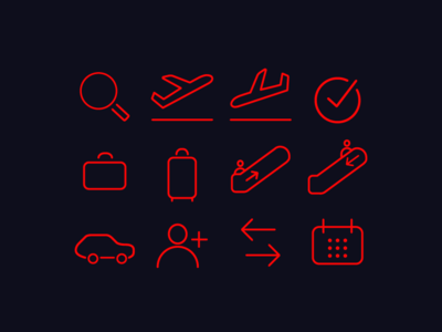 Airline Icon Set